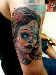 mully tattoo tattoos flower rose day of the dead