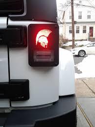 custom jeep tail light covers spartan jeep wrangler custom tail light guard by dnajeep jeep