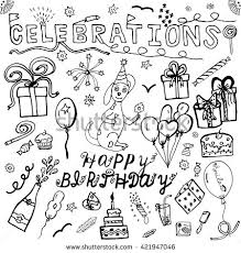 vector hand drawing set about happy stock vector 421947046