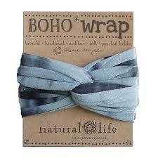 boho wrap tie dye headband turquoise