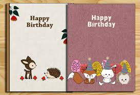printable woodland birthday cards