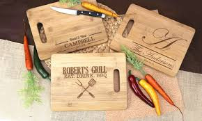personalized engraved cutting board personalized cutting board monogram online groupon