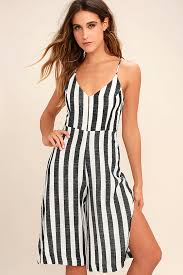 black and white jumpsuit chic black and white striped jumpsuit midi jumpsuit wide leg