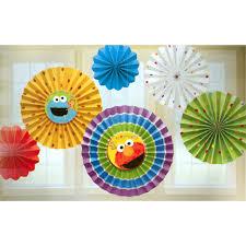 sesame decorations opentip sesame 1st bday paper fan decoration seasame