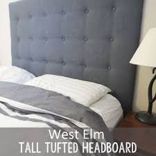 Diy Button Tufted Headboard Diy West Elm Tall Tufted Headboard How To Create It For Less
