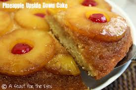 a feast for the eyes pineapple upside down cake with a little rum