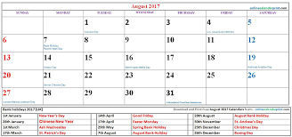 online calendar printable u2013 august 2017 calendar printable pdf