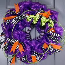 Halloween Wreath Witch Legs 15