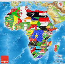 3d africa map vector flag 3d map of africa physical outside