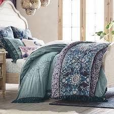 lennon u0026 maisy embroidered tassel duvet cover sham pbteen