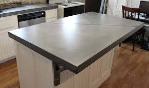 simple beige color kitchen concrete countertops come with built in