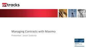 contracts management in ibm maximo youtube