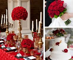 Red And Gold Reception Decoration Fall Wedding Theme Decoration Ideas Bunchesdirect