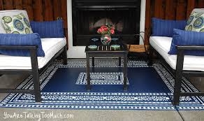 Painting An Outdoor Rug Want To Fancy Up Your Outdoor Space What About A Stenciled Rug On