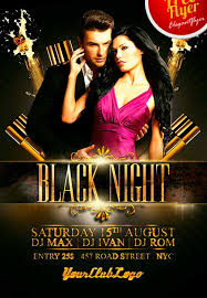 download free black night club psd flyer template