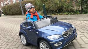 bmw battery car battery cars kid outside with bmw car on