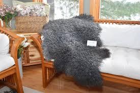 sheepskin bath mat gray gotland sheepskin bath mat throw rug bed spread chair pad