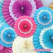 paper fan circle decorations 8inch 12inch wedding tissue paper fan pinwheel backdrop decor multi