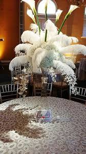 Feather Vase Centerpieces by Say I Do Weddings U0026 Events Centerpieces