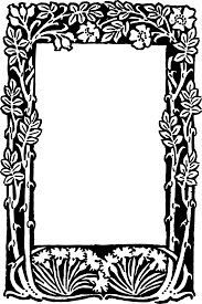 free vector u2013 floral border frame oh so nifty vintage graphics