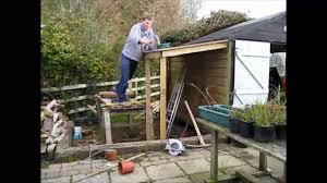 How To Build A Shed Out Of Wooden Pallets by Time Lapse Lean To Shed Youtube
