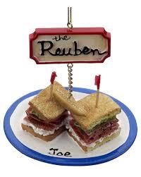 reuben sandwich personalized ornament