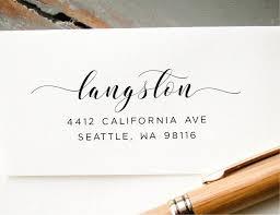 wedding invitations return address address st self inking return address modern calligraphy