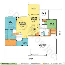 house plans single story single story house plans for views home deco floor open modern