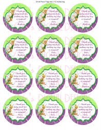 tinkerbell favor tags 2 5 stickers gift bag