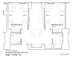 Floor Plan Of A House With Dimensions Morgan Hall University Housing And Residential Life