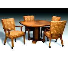 dinette table and chairs with casters dining room sets with chairs on casters solomailers info