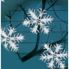 icicle christmas lights set of 10 clear lighted twinkling snowflake icicle