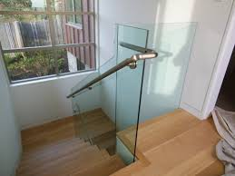 Glass Stair Banister Modern Stairs Designs With Wooden Treads And Glass Railing Excerpt