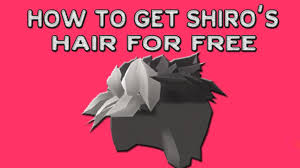 is there pink hair in roblox how to get the new shiro s hair in roblox expired youtube