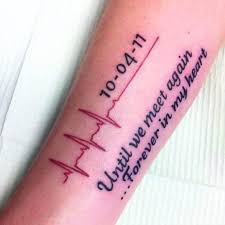 heartbeat tattoos for men heartbeat tattoos heartbeat and