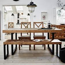 industrial kitchen table furniture standford industrial reclaimed fabulous dining table bench wall