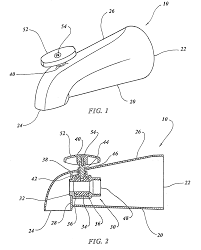 patent us20100006164 bathtub diverter spout with ball valve patent drawing