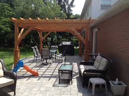 Building A Pergola On Concrete by Latest Project Complete Paver Patio Pergola And Sitting Wall