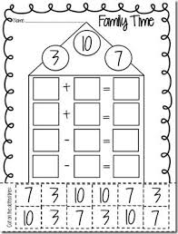 number fact families 75 best math fact families images on teaching math