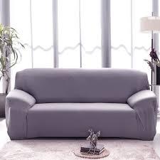 housse canapé gris hicollie 1 gris housse canapé spandex polyester lycra 3 place sofa