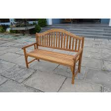 Acacia Wood Outdoor Furniture Durability by Patio Wise Classic Wooden Folding Bench 3 Seater Acacia Wood