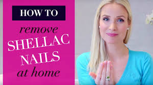 remove shellac nail polish at home beauty diy youtube