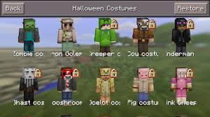 minecraft halloween city minecraft pocket edition gets spooky new costumes in surprise