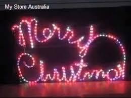 lighting rope light multi colour merry sign