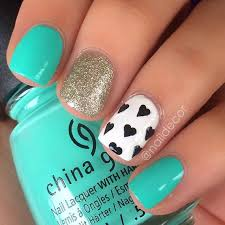 58 amazing nail designs for short nails pictures turquoise nail