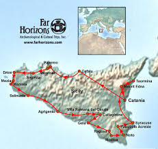 Map Of Italy And Sicily by Sicily Tour Art U0026 Archaeology Far Horizons