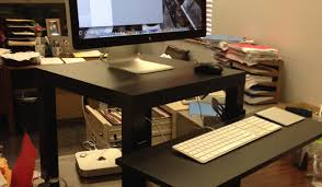 Diy Stand Up Desk Ikea Desk Magnificent Rectangle Wooden Ikea Stand Up Desk Hack