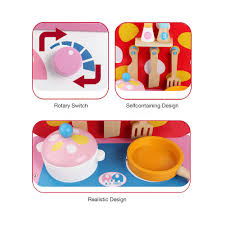 Toy Kitchen Set Food Wooden Kitchen Toy Food Cooking Toys Baby Pretend Play A Small