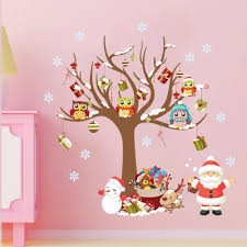 online get cheap sale wall decor aliexpress com alibaba group new arrival christmas tree father christmas wall stickers children 39 s room bedroom living