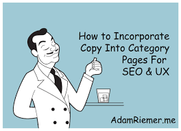 how to add content to category pages for seo u0026 ux